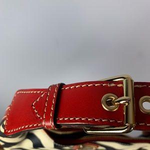 Dooney & Bourke Bags - Dooney & Bourke Zebra Red Leather Purse